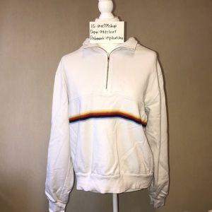 RARE Brandy Melville rainbow isabella sweater